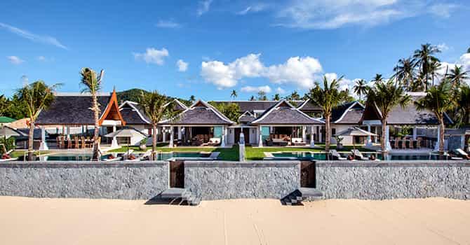 Miskawaan Beach Villa  Arial view 1