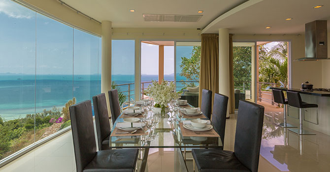 Villa Akira  Dining Table with View