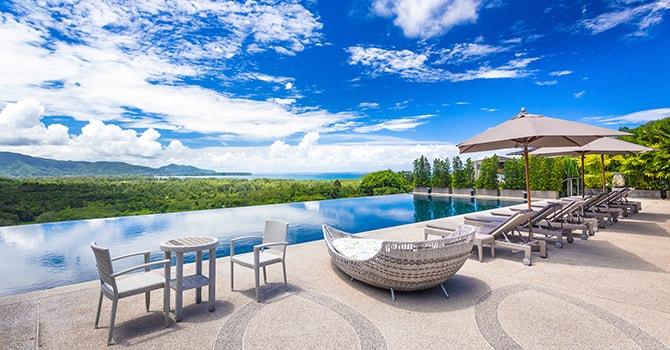 Villa Dara  20 x 8 metre infinity edge swimming pool