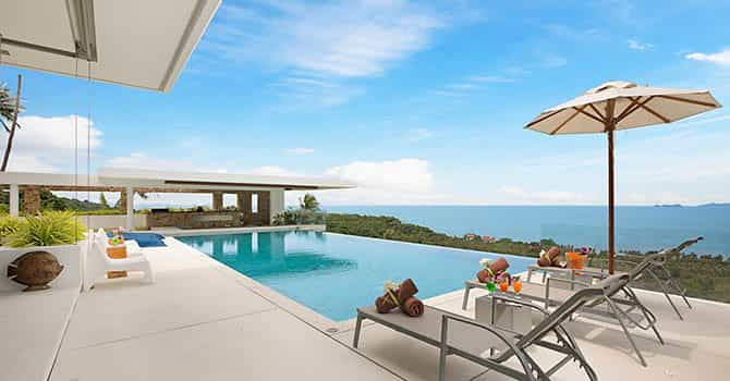 Villa Blue View  Swimming Pool with seaview