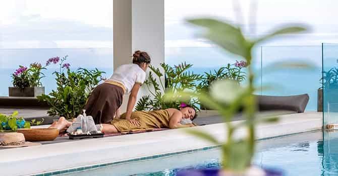Villa Blue View  Massage area