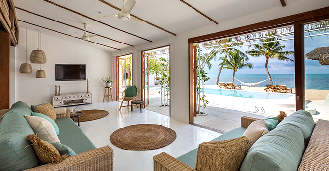 Kya Beach House  Living Room