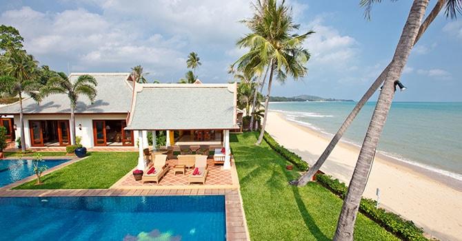 Villa Lotus  39meter absolute beach frontage