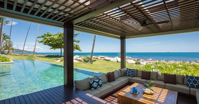 Villa Malabar  Sunken Sala by Swimming Pool
