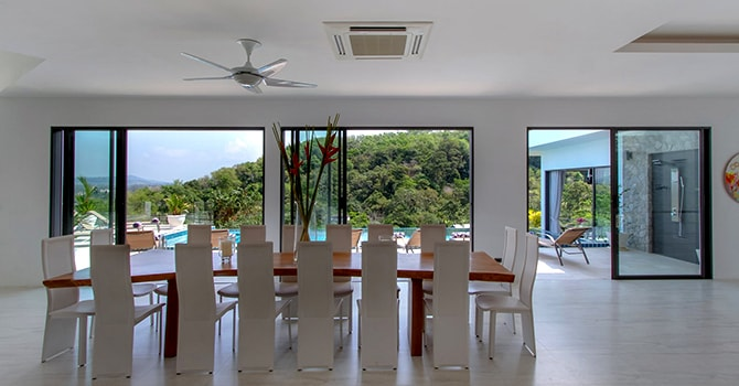 Villa Serenity  View from Dining Area