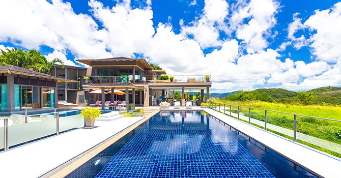 Villa Suriyan - 18 x 5 metres saltwater infinity edge