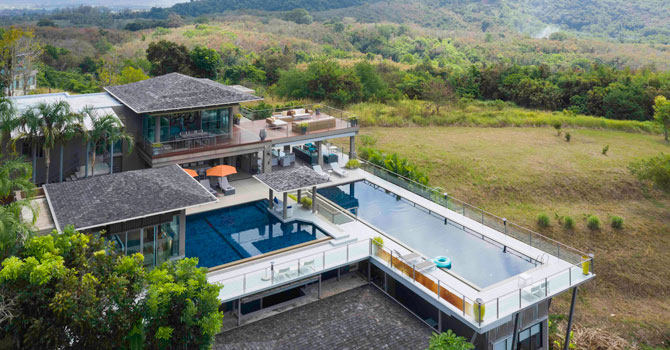Villa Suriyan  Aerial Shot