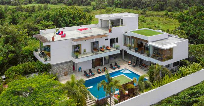 Villa White Skies  Aerial Shot