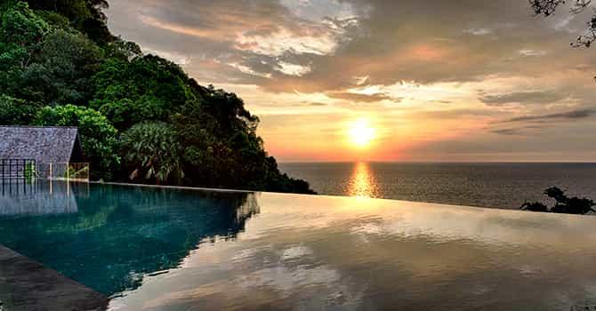 Villa Yin  18 Meter Marble Infinity Pool